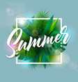 summer with typography letter and vector image vector image