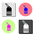 tag price label flat icon vector image