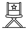 vblog director chair icon outline style vector image vector image