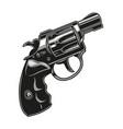vintage concept revolver vector image vector image