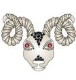 Head of the ram ram head Zodiac signs - Aries vector image