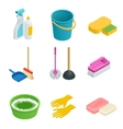 set of cleaning tools Home clean sponge vector image