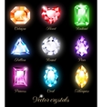 Set of colored crystals vector image