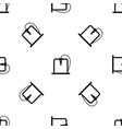 3d printer frame pattern seamless black vector image vector image