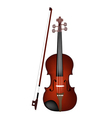 A beautiful brown violin on white background vector | Price: 1 Credit (USD $1)
