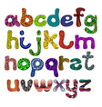 alphabet funny uppercase color vector image