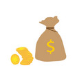 bag of coins vector image