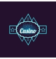 Bar Casino Blue Neon Sign vector image vector image