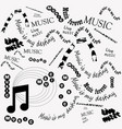 black and white poster music vector image