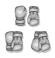 black boxing gloves vector image