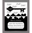 Black Friday Sale in Wonderland Banner Card vector image vector image