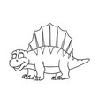 cartoon dimetrodon cute little badinosaur vector image vector image