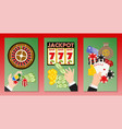 casino concept set banners vector image vector image