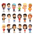 Casually Dressed Flat Characters Set vector image vector image