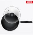 classic metal black grill pan vector image vector image