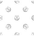 classic pendant jewellery pattern seamless vector image
