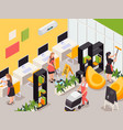 cleaning service isometric composition vector image vector image