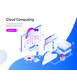 cloud computing isometric concept modern flat vector image