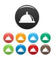 condom icons set color vector image