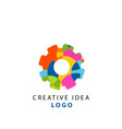 creative idea geometric logo template with vector image vector image