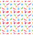 cute colorful hallowen pattern background vector image