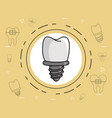 dental implant care vector image