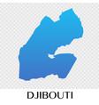 djibouti map in africa continent design vector image