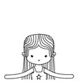 dotted shape girl dancing ballet with straight vector image vector image