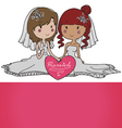 female gay couple vector image vector image
