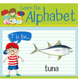 Flashcard letter T is for tuna vector image vector image