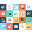 flat icons internet security and technology vector image