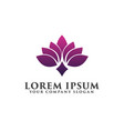 flower spa logo design concept template vector image vector image