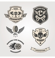 Grand prix racing motorclub emblems set isolated vector image vector image