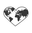 Heart shape icon Planet design graphic vector image
