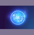 hologram coronavirus covid-2019 on a blue vector image