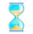 hourglass with sand vector image