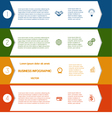 Infographic Colourful arrows template from white vector image vector image