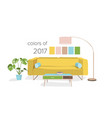 interior design colors of the year vector image vector image