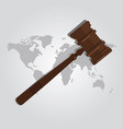 international law arbitration prosecution vector image vector image