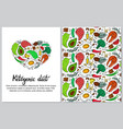 ketogenic diet vertical banner in hand drawn vector image vector image