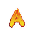 letter a fire flames font lettering tattoo vector image vector image