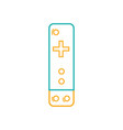 line controller object to video game console vector image vector image