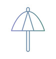 line umbrella open to sun protection vector image vector image