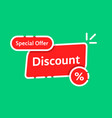 linear color sale promo or discount label vector image vector image