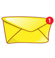 mail envelope icon notification with red vector image