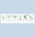 Mobile app onboarding screens gardening cut tree