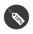 Monochrome round discount icon vector image vector image