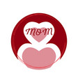 mother day label vector image