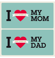 mothers fathers day cards vector image