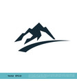 mountain icon logo template design eps 10 vector image vector image